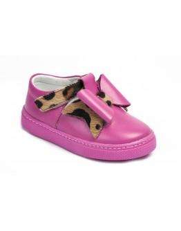 Casual Deri Ayakkabı Fuşya