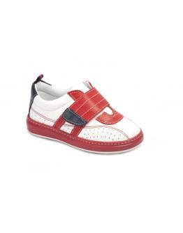 Casual Deri Ayakkabı Kırmızı