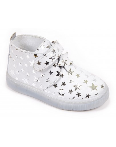 Casual Deri Ayakkabı  Gümüş