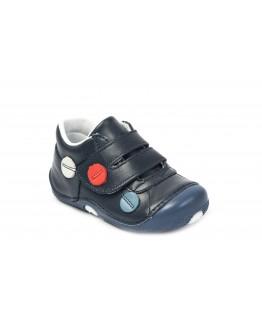 First Step Deri İlk Adım Ayakkabı Lacivert