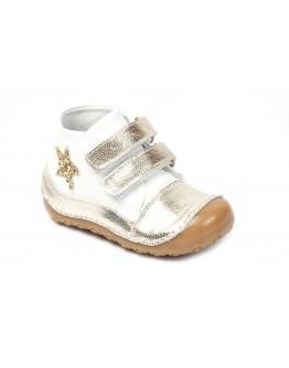 First Step Deri İlk Adım Ayakkabı Altın