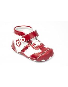 First Step Deri İlk Adım Ayakkabı Kırmızı
