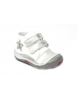 First Step Deri İlk Adım Ayakkabı Gümüş