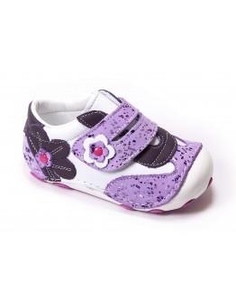First Step Deri İlk Adım Ayakkabı Lila
