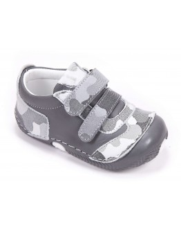 First Step Deri İlk Adım Ayakkabı Füme