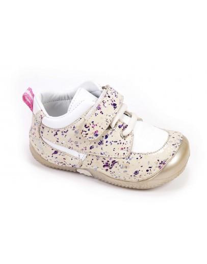 First Step Deri İlk Adım Ayakkabı Pudra