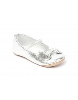 Premium Deri Patik Gümüş